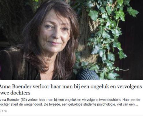 interview Anna Boender in Algemeen Dagblad